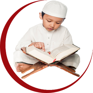 Child learning Quran